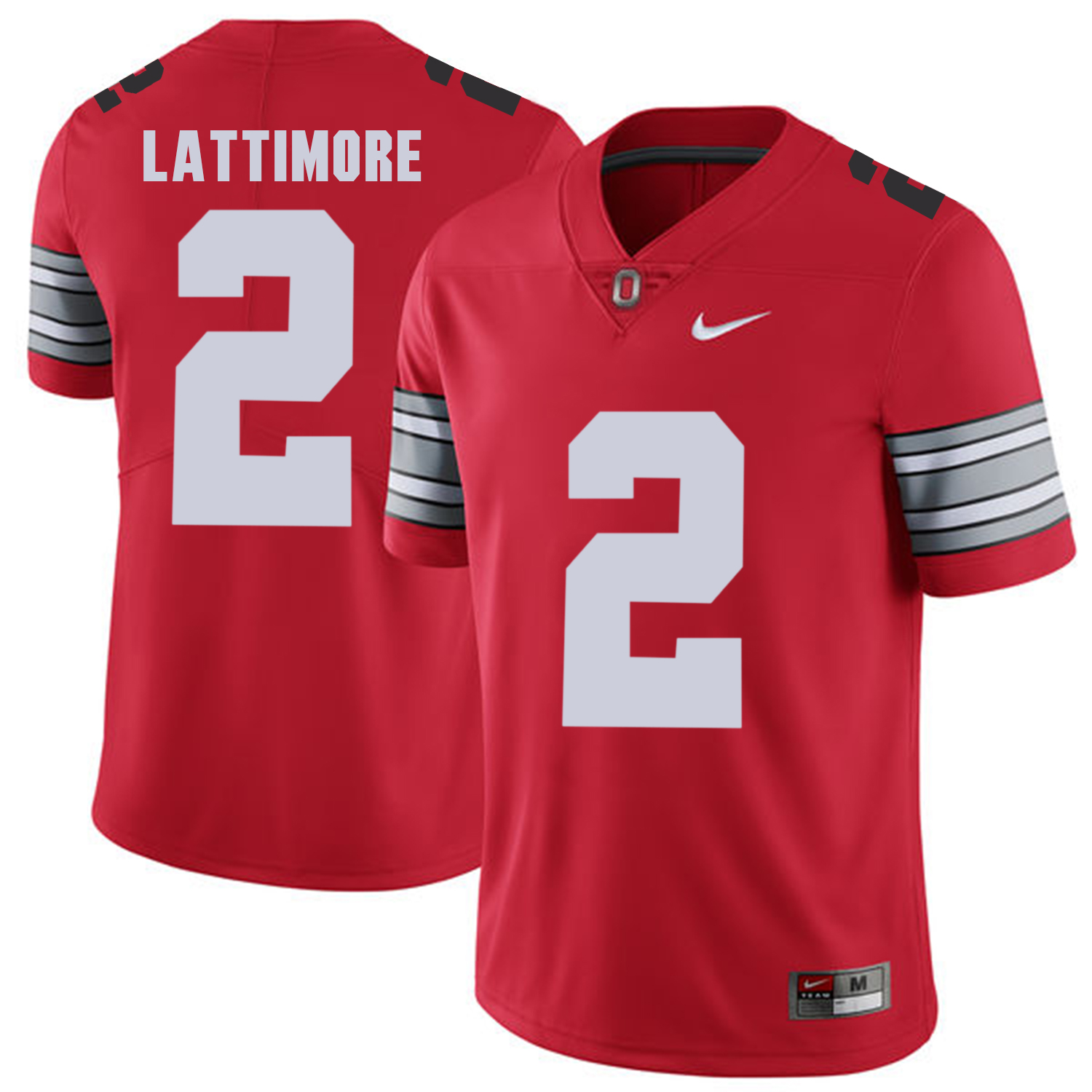Ohio State Buckeyes 2 Marshon Lattimore Red 2018 Spring Game College Football Limited Jersey