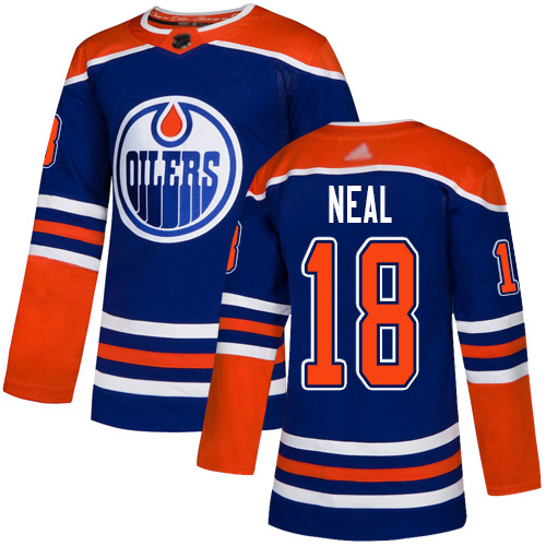 Oilers #18 James Neal Royal Alternate Authentic Stitched Hockey Jersey
