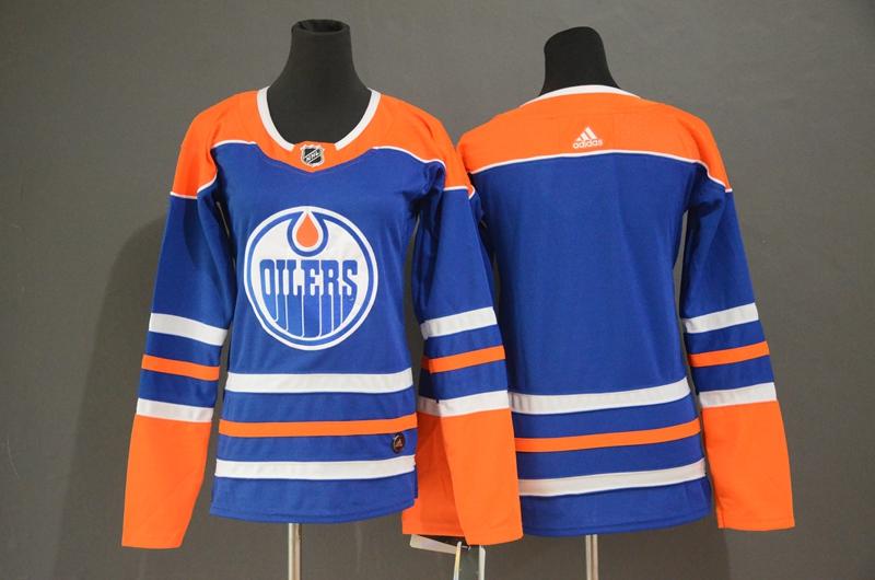 Oilers Blank Royal Adidas Jersey