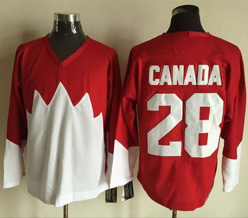 Olympic CA. #28 Canada Red White 1972 Commemorative CCM Stitched NHL Jersey
