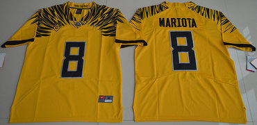 Oregon Ducks 8 Marcus Mariota Gold Nike College Jersey