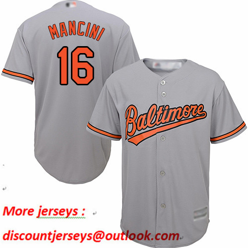 Orioles #16 Trey Mancini Grey New Cool Base Stitched Baseball Jersey