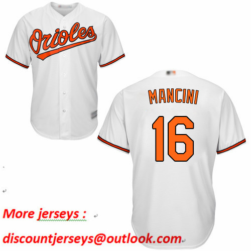 Orioles #16 Trey Mancini White New Cool Base Stitched Baseball Jersey