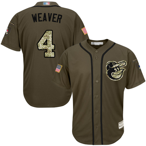 Orioles #4 Earl Weaver Green Salute to Service Stitched Baseball Jersey
