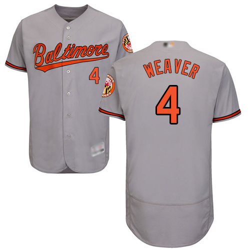 Orioles #4 Earl Weaver Grey Flexbase Authentic Collection Stitched Baseball Jersey