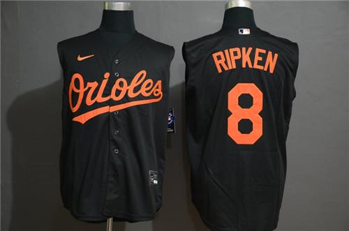 Orioles 8 Cal Ripken Jr Navy Nike Cool Base Sleeveless Jersey