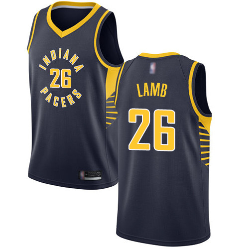 Pacers #26 Jeremy Lamb Navy Blue Basketball Swingman Icon Edition Jersey
