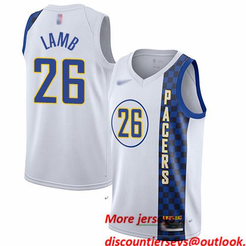 Pacers #26 Jeremy Lamb White Basketball Swingman City Edition 2019 20 Jersey