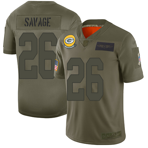 Packers #26 Darnell Savage Camo Men's Stitched Football Limited www.usanfljerseys.net 2019 Salute To Service Jersey