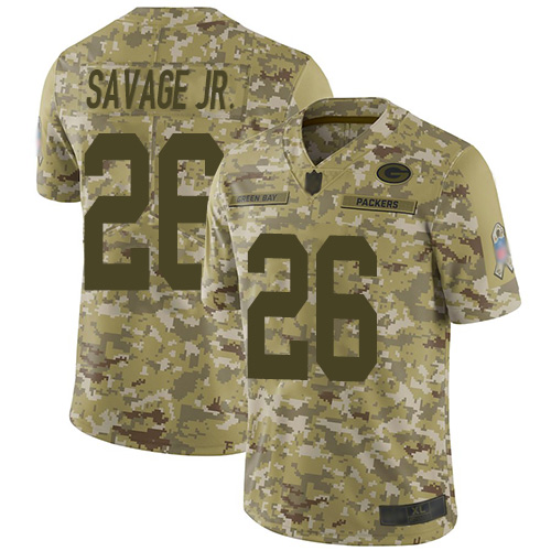 Packers #26 Darnell Savage Jr. Camo Men's Stitched Football Limited 2018 Salute To Service Jersey