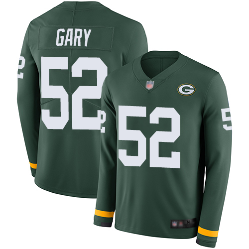 Packers #52 Rashan Gary Green Team Color Men's Stitched Football Limited Therma Long Sleeve Jersey