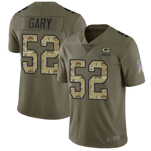 Packers #52 Rashan Gary Olive Camo Men's Stitched Football Limited 2017 Salute To Service Jersey