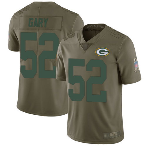 Packers #52 Rashan Gary Olive Men's Stitched Football Limited 2017 Salute To Service Jersey