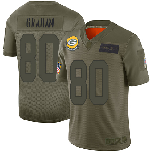 Packers #80 Jimmy Graham Camo Men's Stitched Football Limited 2019 Salute To Service Jersey