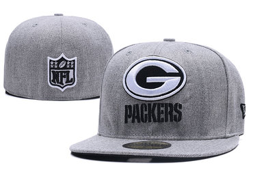 Packers Team Logo Gray Fitted Hat LX