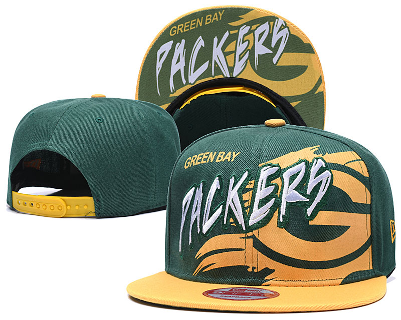 Packers Team Logo Green Yellow Adjustable Hat TX