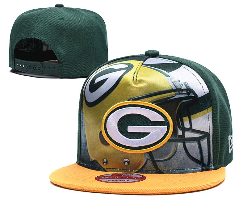 Packers Team Logo Green Yellow Adjustable Leather Hat TX