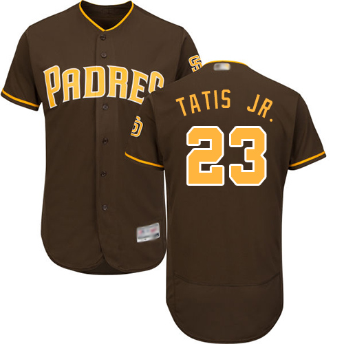 Padres #23 Fernando Tatis Jr. Brown Flexbase Authentic Collection Stitched Baseball Jersey