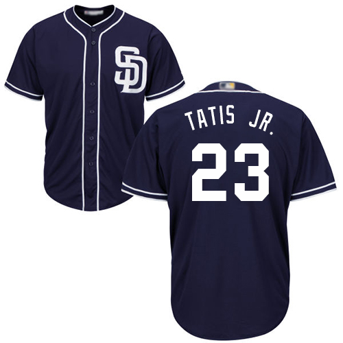 Padres #23 Fernando Tatis Jr. Navy Blue New Cool Base Stitched Baseball Jersey