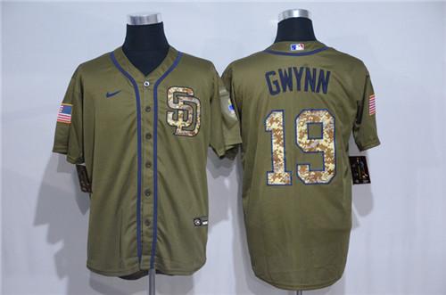 Padres 19 Tony Gwynn Olive 2020 Nike Cool Base Jersey