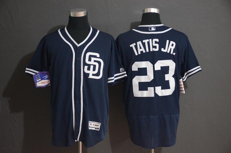 Padres 23 Fernando Tatis Jr. Navy Flexbase Jersey