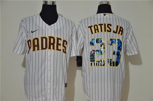 Padres 23 Fernando Tatis Jr. White Nike Cool Base Player Jersey