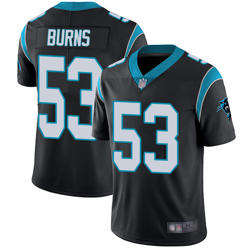 Panthers #53 Brian Burns Black Team Color Men's Stitched Football Vapor Untouchable Limited Jersey