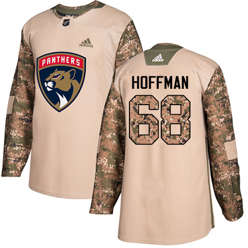 Panthers #68 Mike Hoffman Camo Authentic 2017 Veterans Day Stitched Hockey Jersey