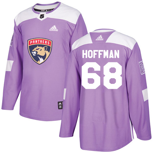 Panthers #68 Mike Hoffman Purple Authentic Fights Cancer Stitched Hockey Jersey