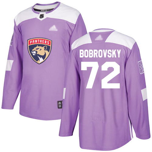 Panthers #72 Sergei Bobrovsky Purple Authentic Fights Cancer Stitched Youth Hockey Jersey