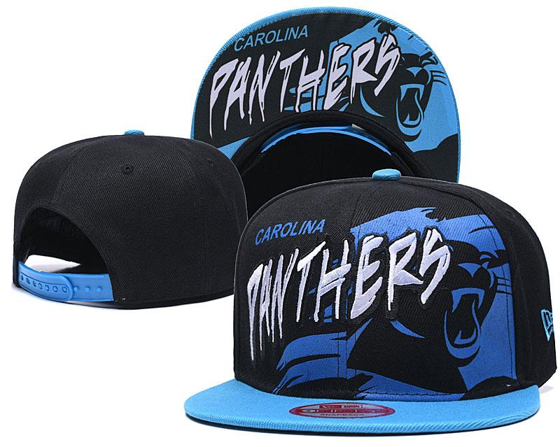 Panthers Team Logo Black Royal Adjustable Hat TX