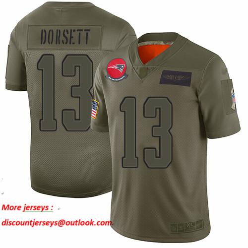 Patriots #13 Phillip Dorsett Camo Men's Stitched Football Limited 2019 Salute To Service Jersey