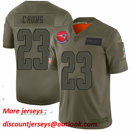 Patriots #23 Patrick Chung Camo Youth Stitched Football Limited 2019 Salute to Service Jersey