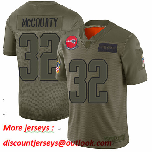 Patriots #32 Devin McCourty Camo Youth Stitched Football Limited 2019 Salute to Service Jersey