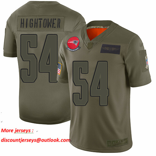 Patriots #54 Dont'a Hightower Camo Men's Stitched Football Limited 2019 Salute To Service Jersey