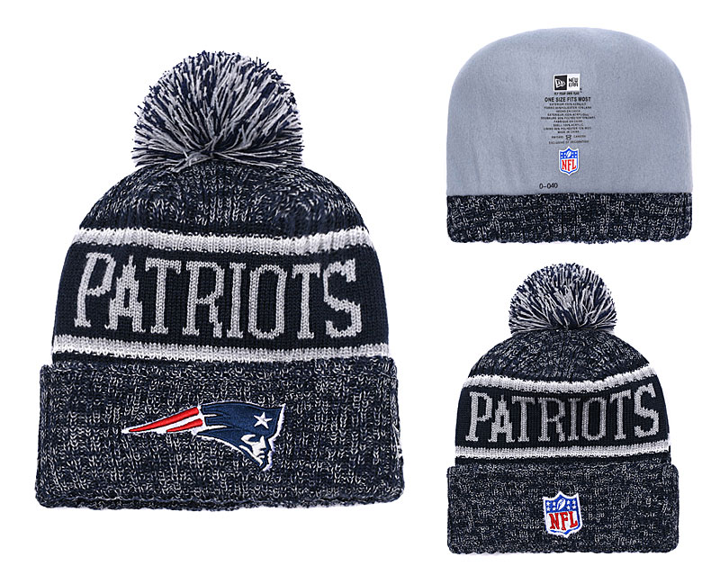 Patriots Team Logo Navy Knit Hat YD