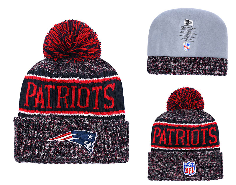 Patriots Team Logo Red Knit Hat YD