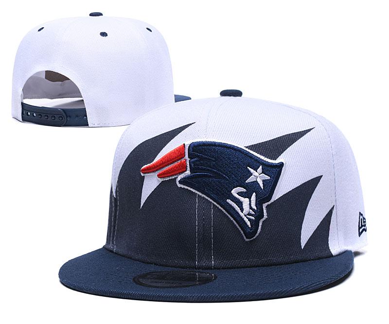 Patriots Team Logo White Navy Adjustable Hat GS