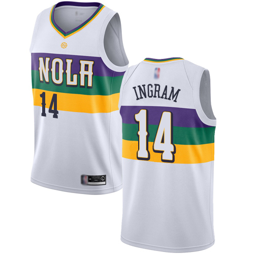 Pelicans #14 Brandon Ingram White Basketball Swingman City Edition 2018 19 Jersey