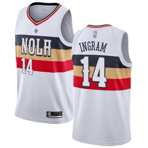 Pelicans #14 Brandon Ingram White Basketball Swingman Earned Edition Jersey