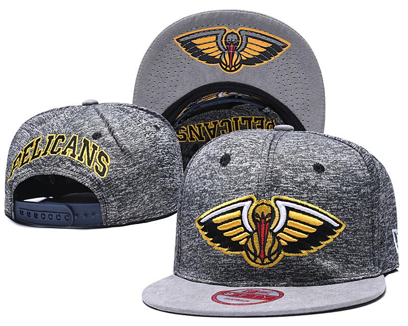 Pelicans Team Logo Gray Adjustable Hat TX