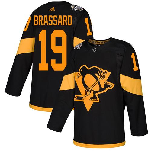 Penguins #19 Derick Brassard Black Authentic 2019 Stadium Series Stitched Hockey Jersey