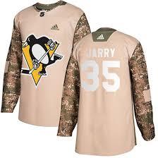 Penguins 35 Tristan Jarry camo Adidas Jersey
