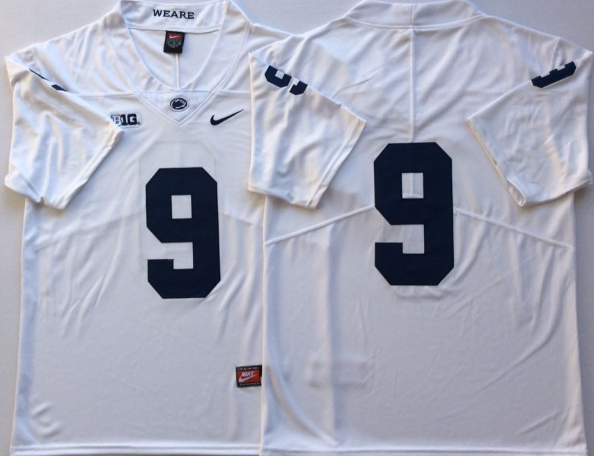 Penn State Nittany Lions 9 Trace McSorley White Nike College Football Jersey