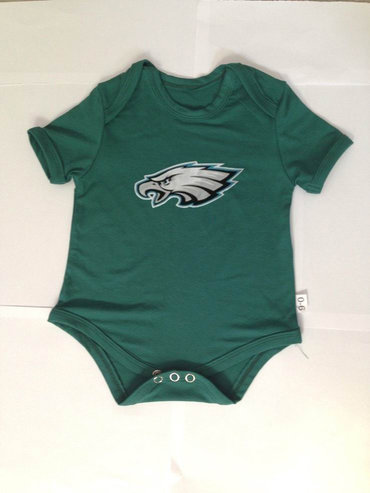 Philadelphia Eagles Newborn Creeper Set - Middle Green