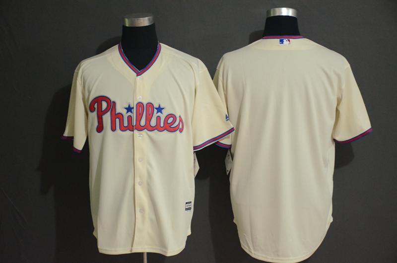 Phillies Blank Cream Cool Base Jersey