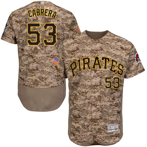 Pirates #53 Melky Cabrera Camo Flexbase Authentic Collection Stitched Baseball Jersey