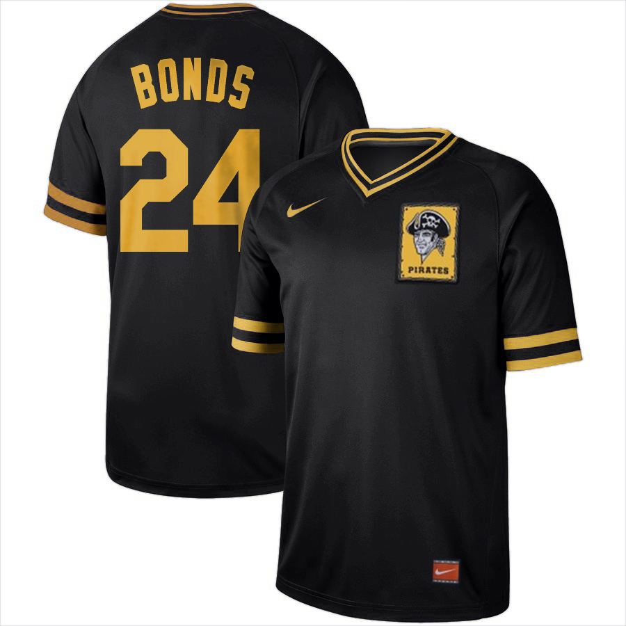 Pirates 24 Barry Bonds Black Throwback Jersey
