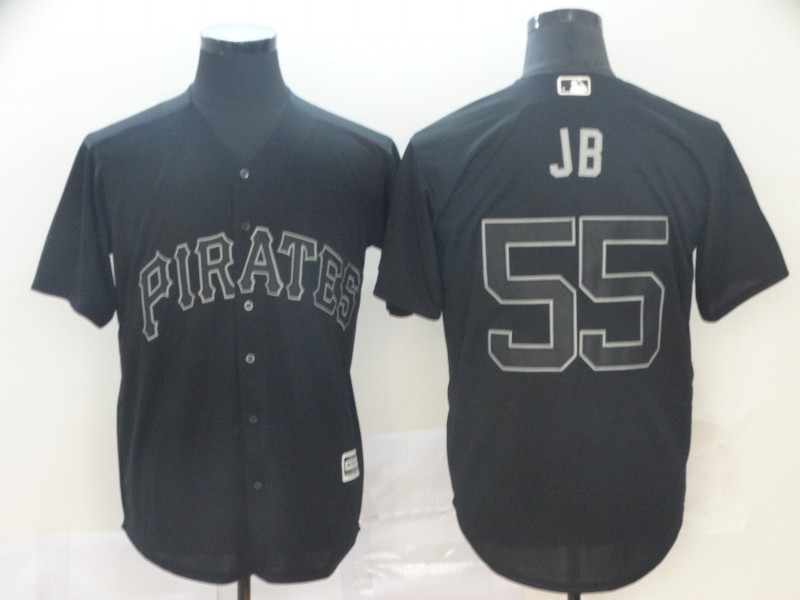Pirates 55 Josh Bell JB Black 2019 Players' Weekend Player Jersey