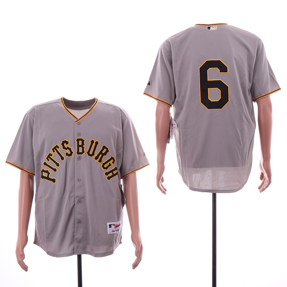 Pirates 6 Starling Marte Gray Throwback Jersey